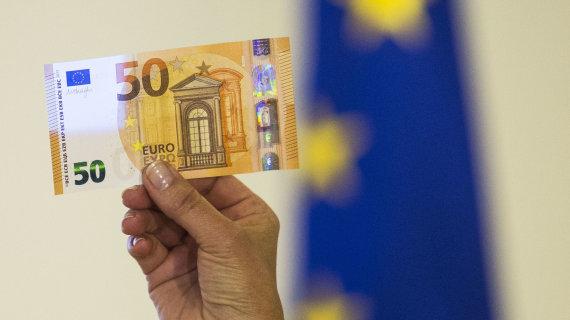 Luko Balandžio / 15min nuotr./50 eurų banknotas