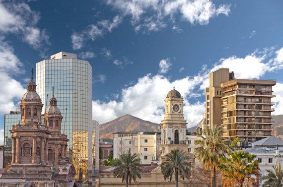 123rf.com nuotr. /Čilės sostinės Santjago senamiestis