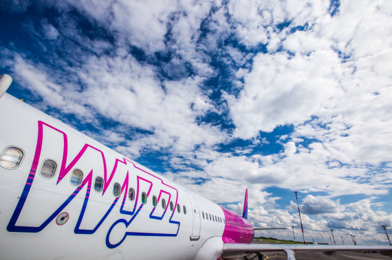 """Bendrovės nuotr./""""Wizz Air"""" orlaivis"""
