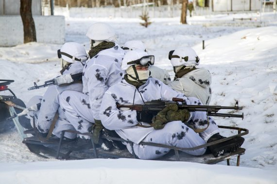 """""""Scanpix""""/""""RIA Novosti"""" nuotr./Rusijos kariai Amūro regione"""
