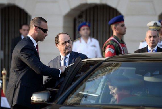 """AFP/""""Scanpix"""" nuotr./Egipte viešintis Prancūzijos vadovas Hollande'as"""