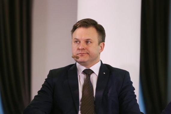 Juliaus Kalinsko / 15min nuotr./Lietuvos centrinės kredito unijos valdybos pirmininkas Fortunatas Dirginčius