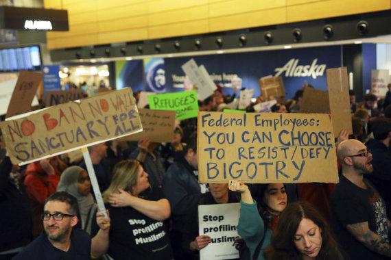 """Scanpix""/AP nuotr./Protestas JAV oro uoste"
