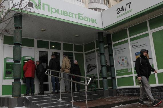 """""""Scanpix""""/""""Sipa USA"""" nuotr./""""Privatbank"""" skyrius Kijeve"""