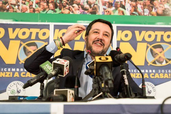 """Scanpix""/""PA Wire""/""Press Association Images"" nuotr./Matteo Salvini"