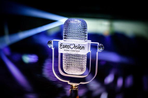 """Eurovision.tv / Thomas Hanses nuotr. /""""Eurovizijos"""" dainų konkurso trofėjus"""