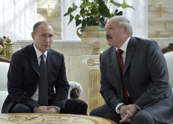 """Reuters""/""Scanpix"" nuotr./Vladimiras Putinas ir Aliaksandras Lukašenka"