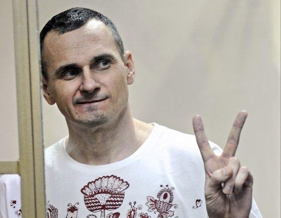 """""""Scanpix""""/AP nuotr./Rusijoje kalinamas ukrainietis režisierius Olegas Sencovas"""