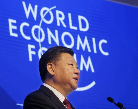 """Scanpix""/AP nuotr./Kinijos prezidentas Xi Jinpingas Pasaulio ekonomikos forume Davose"