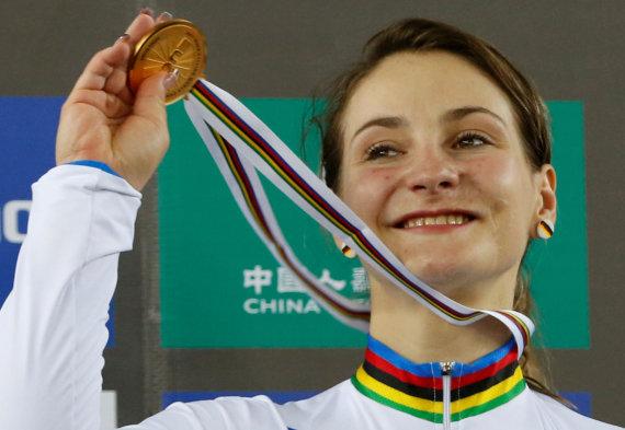 """""""Reuters""""/""""Scanpix"""" nuotr./Dukart olimpinė čempionė Kristina Vogel lieka sukaustyta paralyžiaus."""