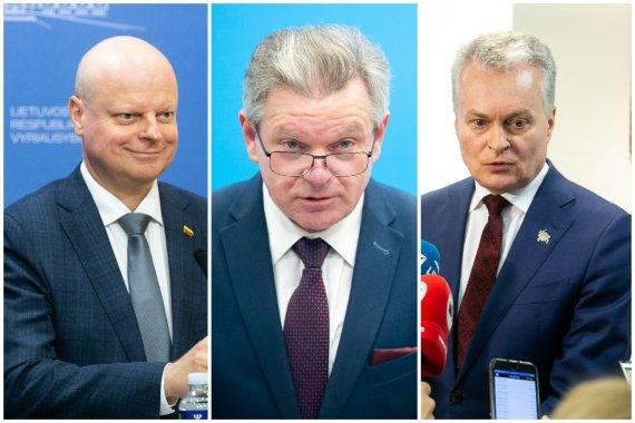 15min nuotr./Saulius Skvernelis, Jaroslavas Narkevičius ir Gitanas Nausėda