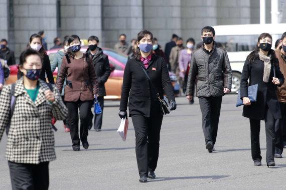 """""""Scanpix""""/AP nuotr./Šiaurės Korėja skelbia, kad šalyje nėra koronaviruso"""