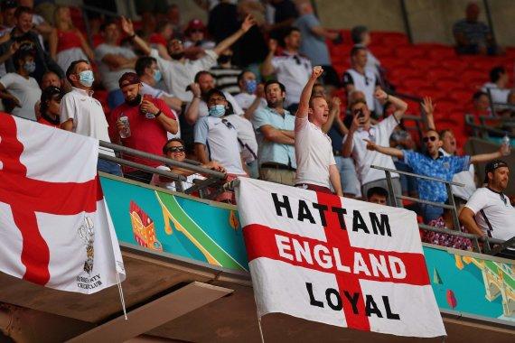 AFP / Scanpix Photo / England national team fans at Wembley Stadium