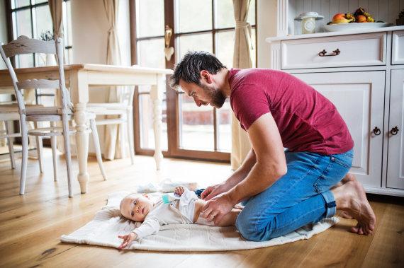 123RF.com nuotr./Tėtis su vaiku
