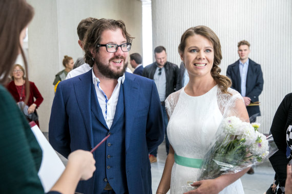 Juliaus Kalinsko / 15min nuotr./Jono Griciaus ir Anke Lechner vestuvių akimirka