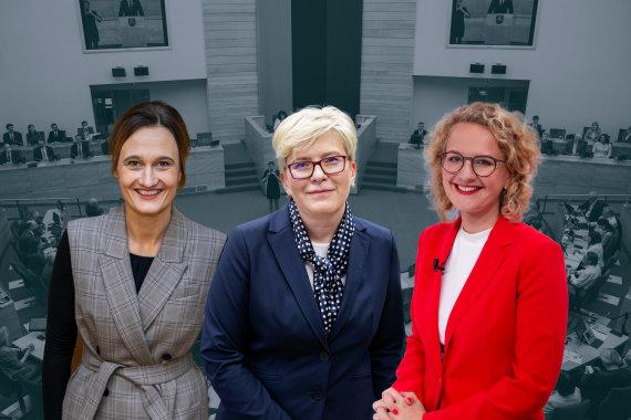 15min nuotr./Viktorija Čmilytė-Nielsen, Ingrida Šimonytė ir Aušrinė Armonaitė