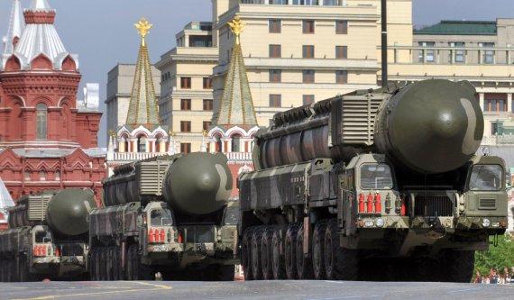 """""""Reuters""""/""""Scanpix"""" nuotr./Rusijos kariuomenės pasididžiavimas """"Topol-M"""", kuris šaudo branduolinius užtaisus."""
