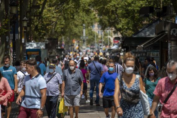 """""""Scanpix""""/AP nuotr./Karantinas Barselonoje"""