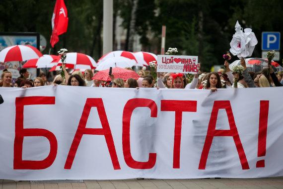 """""""Scanpix"""" nuotr./Protestai Baltarusijoje"""