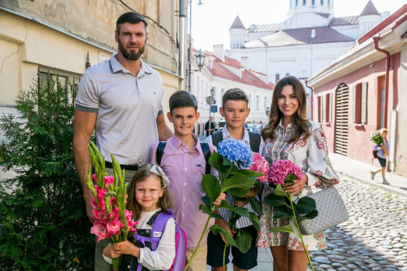 Juliaus Kalinsko / 15min nuotr./Kšištofo ir Tatjanos Lavrinovičių šeima