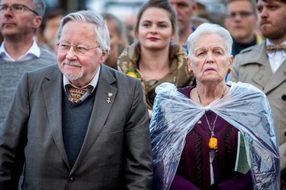 Vidmanto Balkūno / 15min nuotr./Vytautas Landsbergis ir Gražina Ručytė-Landsbergienė