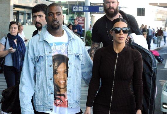 """""""Scanpix""""/Xposurephotos.com nuotr./Kayne Westas ir Kim Kardashian"""