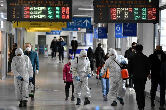 """AFP/""""Scanpix"""" nuotr./Pietų Korėjoje sėkmingai kovojama su koronavirusu"""