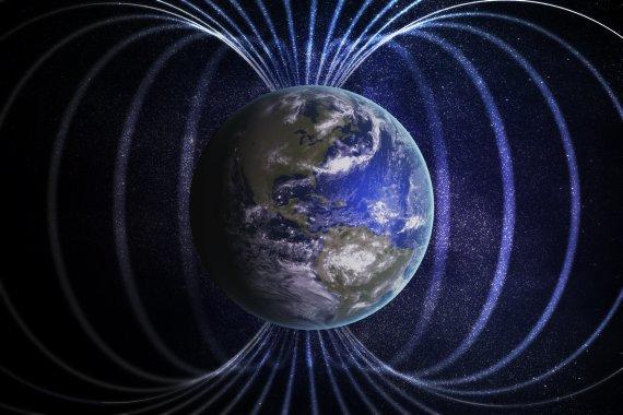 123RF.com nuotr./Žemės magnetinis laukas
