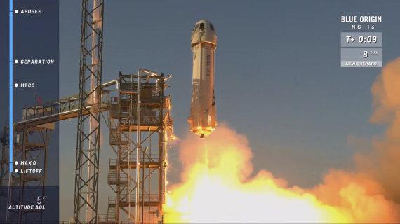 """""""Scanpix""""/AP nuotr./Raketa """"New Shepard"""""""