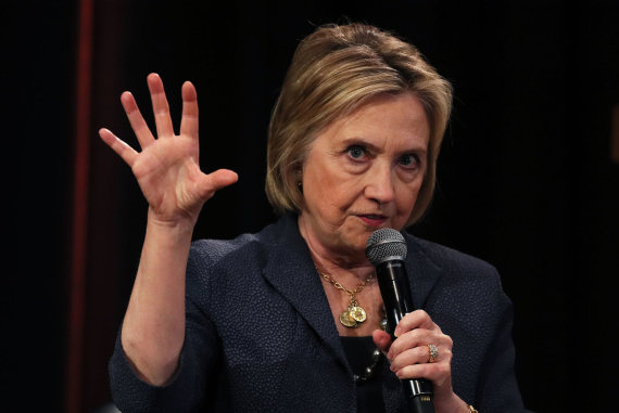 """Scanpix""/""PA Wire""/""Press Association Images"" nuotr./Hillary Clinton Dubline"