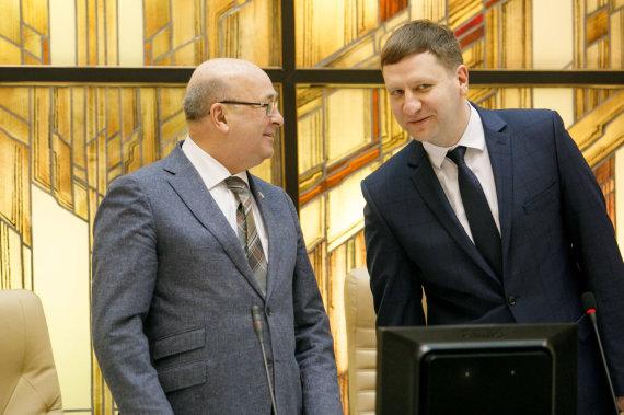 Eriko Ovčarenko / 15min nuotr./Visvaldas Matijošaitis ir Simonas Kairys