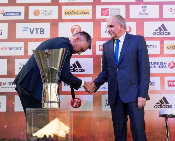 Getty Images/Euroleague.net nuotr./Šarūnas Jasikevičius ir Željko Obradovičius
