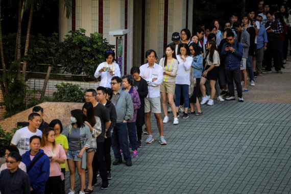 "AFP/""Scanpix"" nuotr./Rinkimai Honkonge"