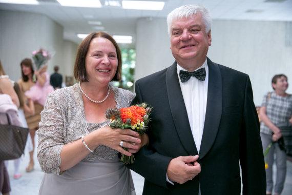 Juliaus Kalinsko / 15min nuotr./Rimanto Vaitkaus ir Marijos Šykovienės vestuvių akimirka