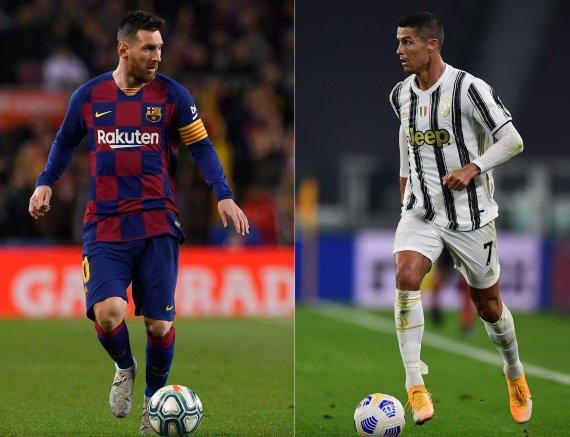 "AFP/""Scanpix"" nuotr./Lionelis Messi ir Cristiano Ronaldo"