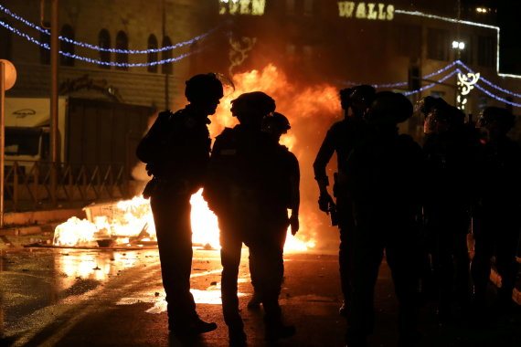 """""""Reuters""""/""""Scanpix"""" nuotr./Izraelio kariai Rytų Jeruzalėje"""