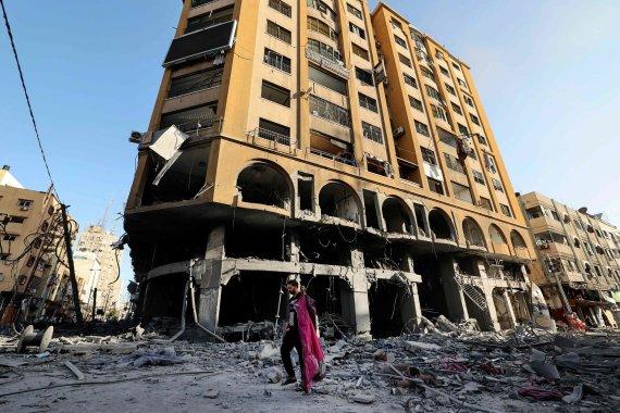 """AFP/""""Scanpix"""" nuotr./Apšaudyta Palestinos teritorija"""
