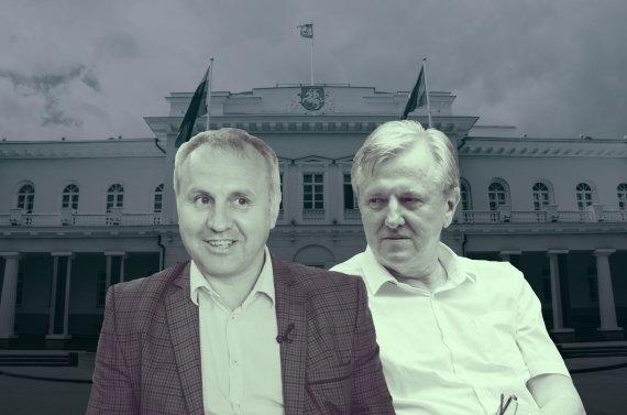 15min nuotr./Kiek kartų Mindaugas Kubilius ir Rimantas Dagys lankėsi prezidentūroje? Versijos skiriasi