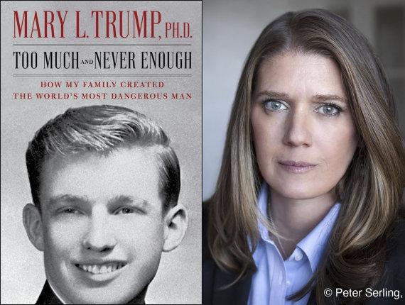"""""""Scanpix""""/AP nuotr./Mary Trump ir jos knygos viršelis"""