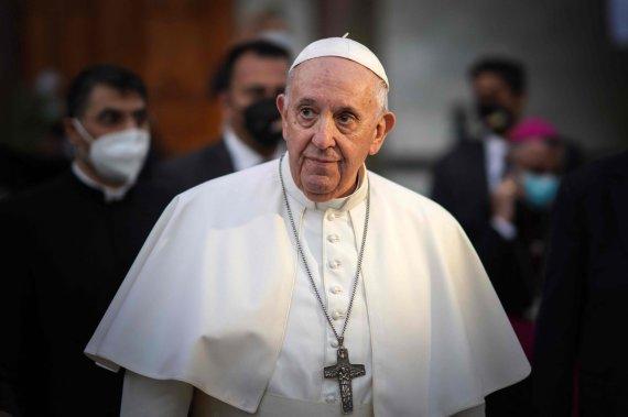 "AFP/""Scanpix"" nuotr./Popiežius Pranciškus Bagdade"