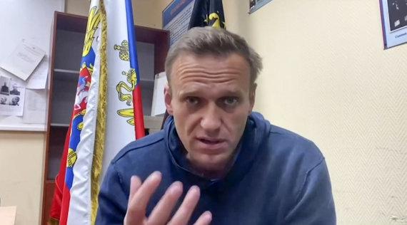 """AFP/""""Scanpix"""" nuotr./Aleksejus Navalnas"""