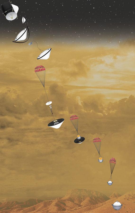 GSFC/NASA/Davinci+ misijos nusileidimo planas