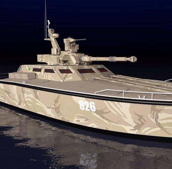 """""""Antasena Tank Boat"""" turės 30 arba 105 mm pabūklą tanko bokštelyje ©Gamintojo nuotrauka"""
