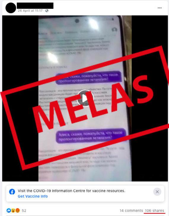 """""""Facebook"""" nuotr./Socialiniuose tinkluose platinama dezinformacija"""