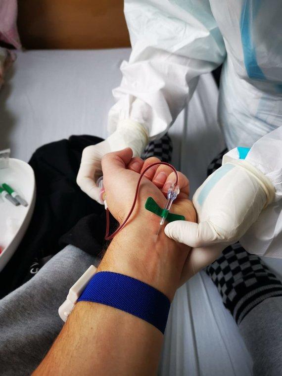 Asmeninio archyvo nuotr./Pauliaus Nezabitausko patirtis gulint LSMU Kauno ligoninėje