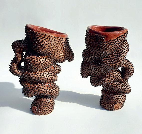 Asmeninio archyvo nuotr./Puodukai tarptautinėje keramikos parodoje