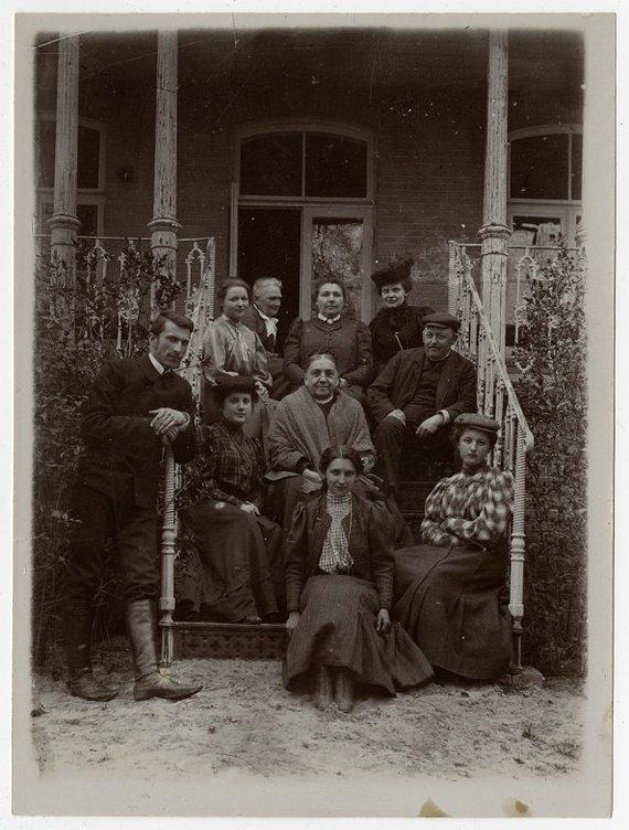 Šiaulių Aušros muziejaus archyvas/Ginkūnų dvare apie 1907 m.