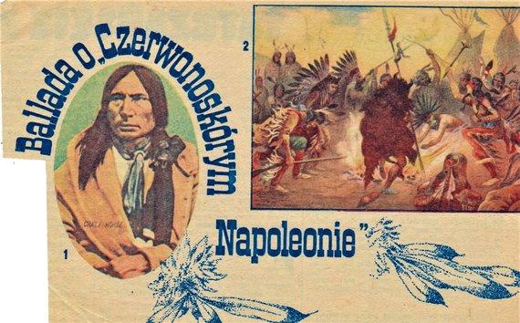 Lakotų vadas Šėlstantis Žirgas (Tašunka Vitko). Iškarpa iš seno lenkiško žurnalo.