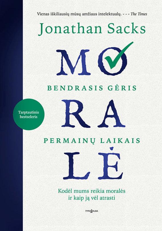 """Jonathanas Sacksas knyga """"Moralė"""""""