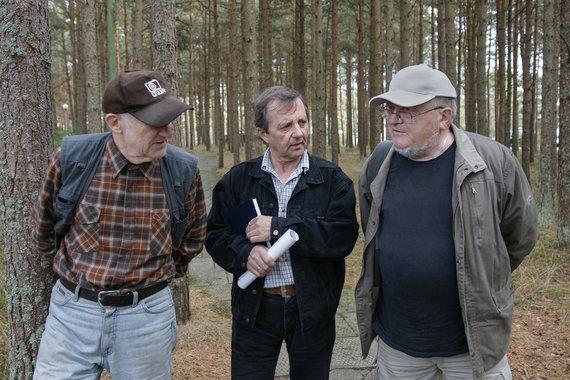 Aleksandras Macijauskas, Stanislovas Žvirgždas, Skirmantas Valiulis. Nida, 2009. / Romualdo Požerskio nuotr.